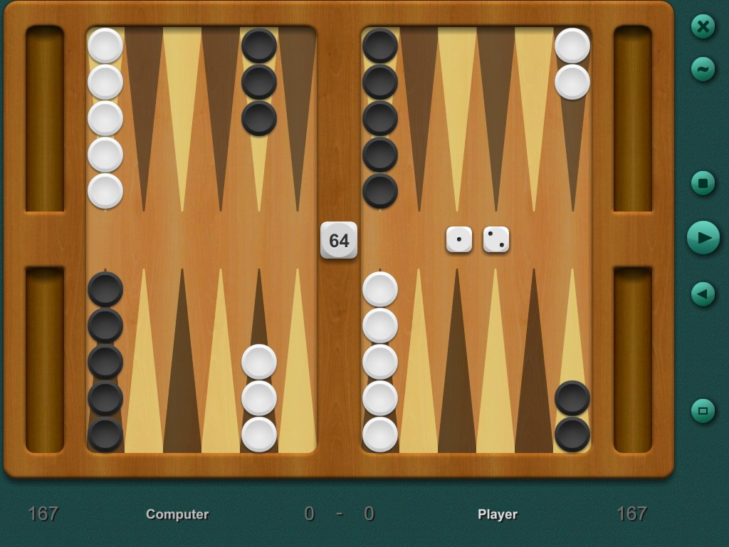 Backgammon 2D board